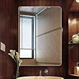 Seven Horses Frameless Bevelled Wall Mirror for Dressing,Bedroom,Bathroom, Living Room,Entrance and Makeup Mirror (14…