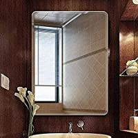 Seven Horses Frameless Bevelled Wall Mirror for Dressing,Bedroom,Bathroom, Living Room,Entrance and Makeup Mirror (14 inches X 20 inches)