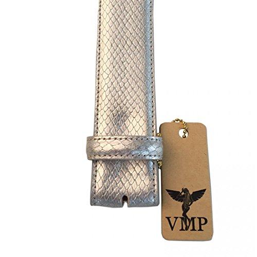 VMP Unisex Gürtel Azoto AME930 Leder Metallic verschiedene, Größe:100;Farbe:Silber