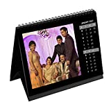 #4: Clixicle Monthly Desk Calendar Square Vertical Dates Black, 8in x 10in, **FREE** Image Customization Available