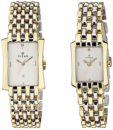 510C8oPq1PL - Titan NE19272927BM01 Bandhan Couples watch