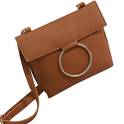 Schulter Tasche Btruely Damen PU Leder Handtasche Crossbody Schulter Bote  Münze Tasche (Einheitsgröße, Braun) (Schwarze Schulter-stil Handtasche)