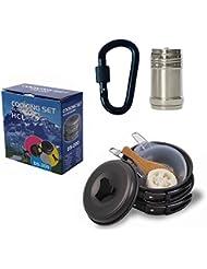 HCL 12pcs Cuisine en aluminium Camping Pot Poêle Outdoor Camping Randonnée Ensemble de cuisson, facile à transporter 100% garantie