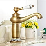 KING DO WAY Wasserhahn antiken bronze Messing becken spuele wasserhahn single mit wasserhaehne Antique bronze bronze