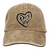 YVSXO Dog Mom Unisex Denim Baseball Cap Adjustable Strap Low Profile Plain Hats Outdoor Casquette Snapback Hats Natural