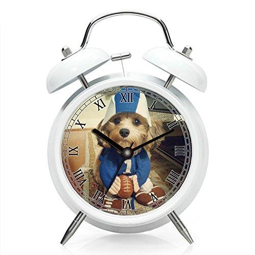 Kostüm Muster Runde Ball - Nachttisch Wecker mit Hintergrundbeleuchtung, batteriebetrieben Reise-Uhr, Runde Twin Bell Laut Wecker (Einzel-Muster) 171.Fu?ball-Kostüm - Hund