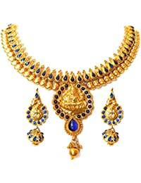 Triumphin Temple Blue 14K Green Gold Plating Jewelry Sets For Wedding Jewelries For Women Necklace For Girls/women