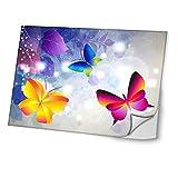 Flüstern der Schmetterlinge 10002, Butterfly, Skin-Aufkleber Folie Sticker Laptop Vinyl Designfolie Decal mit Ledernachbildung Laminat und Farbig Design für Laptop 17