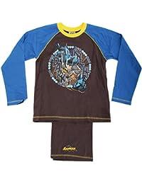 Superman - Conjunto de pijama de manga larga y pantalón largo con diseño de Batman para niño