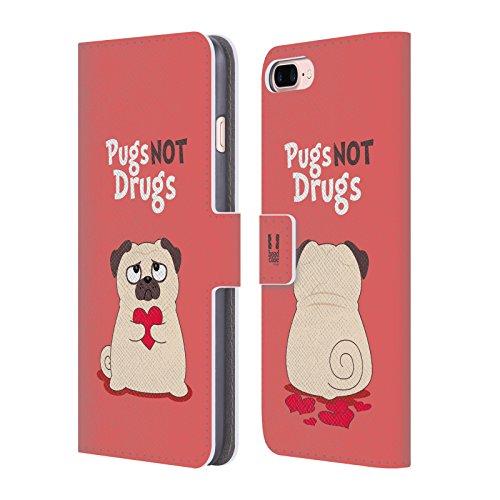 Head Case Designs Life Sky Blue Piper Der Mops Brieftasche Handyhülle aus Leder für Apple iPhone 5 / 5s / SE Not Drugs
