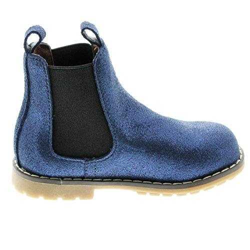 EnFant Fille, Boots classiques à Enfiler, Cuir 32 Blue