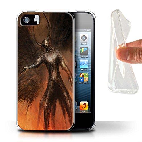 Offiziell Chris Cold Hülle / Gel TPU Case für Apple iPhone SE / Pack 10pcs Muster / Dunkle Kunst Dämon Kollektion Schwarzen Flügeln