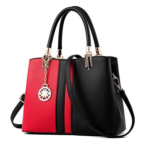 Honeymall borse a mano donna Strisce Rosa grigio Rosso Nero
