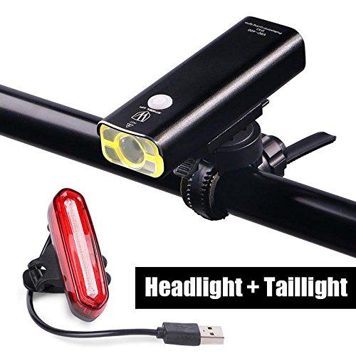 Ricaricabile LED Bike Lights set-Faro fanale posteriore combinazioni torcia bicicletta MTB strada USB Addebitabile anteriore luci posterio
