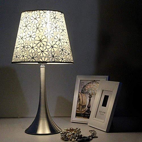 Europäische Schreibtischlampe in schlichtem und modischem Design mit Alu-Alu-Sockel und dimmbarer Glühlampe für Schlafzimmer, Wohnzimmer, Dekoration, B Schreibtisch Lanps -