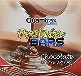 Quamtrax - Protein Bar - 32 barrette da 35 gr - Cioccolato, Scatola da 32 Unitá