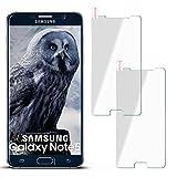 moex 2X 9H Panzerfolie für Samsung Galaxy Note 5 | Panzerglas Display Glasfolie [Tempered Glass] Screen Protector Glas Displayschutz-Folie für Samsung Galaxy Note 5 Schutzfolie