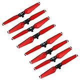 Anbee Spark Accessories, Hélice Coloreada Plegable 4730F para DJI Spark Drone, Juego de 4 piezas (Rojo, 2 juegos)