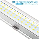 AMBOTHER Interior Lights 12V LED Strip Lights 108 LEDs Bar Lamp Universal Lighting DC12V 4.5W for Car Camper Van Bus Caravan Boat Motorhome Kitchen Bathroom 340MM ON/OFF Switch 11