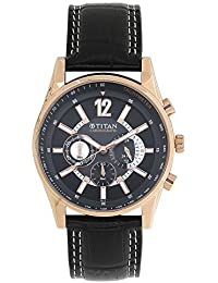 Titan Octane Chronograph Black Dial Men's Watch -NK9322WL02