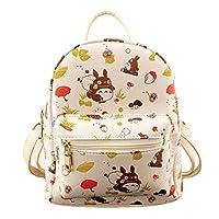 Gumstylekxgj My Neighbor Totoro Anime Cosplay Casual Day Bag Satchel Shoulder Backpack for Girls Women