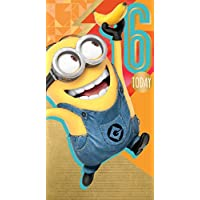 Despicable Me 2 Age 6 Birthday Card