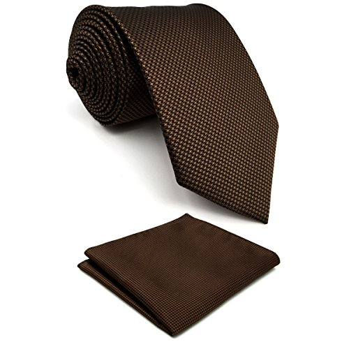 Shlax&Wing Herren Krawatte Einfarbig Color Dark Braun Chocolate Mehrfarbig Seide Classic