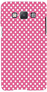 PRINTVISA Patterns Polka Dots Case Cover for Samsung Galaxy A3 (Multicolour)