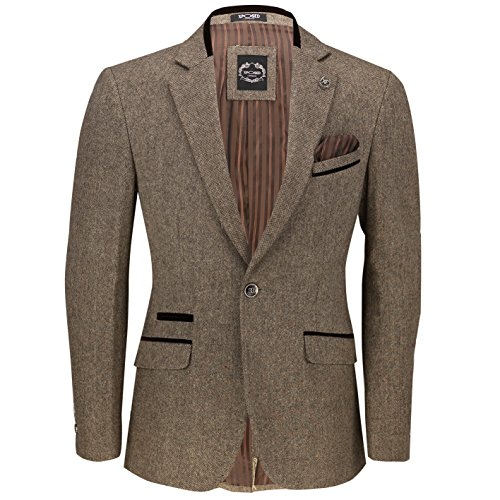 Xposed - Veste de costume - Homme * Taille Unique Blazer-Tan Brown