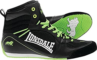 Londsdale Herren Boxen Boxschuhe Typhoon Low Boot Senior, Blk/Lime, 49, 3476-BLI48
