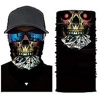 Mioloe Ciclismo Cara máscaras Cabeza Bufanda 3D Joker cráneo patrón máscara Cuello más Caliente Cara máscara