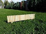naturholz-shop 10 x Beeteinfassung Rasenkante Steckzaun 100 cm Zaunhöhe 20 cm aus Holz