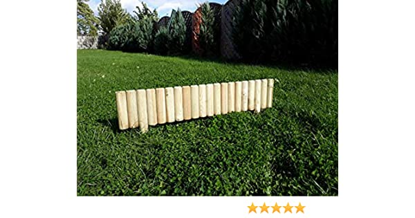 Beeteinfassung Rasenkante Steckzaun 100 cm Zaunhöhe 20 cm aus Holz TOP Ware