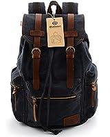 BLUBOON(TM) Vintage Canvas Backpacks Mens Rucksacks Casual Canvas Bags