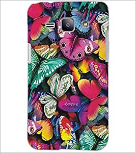 PrintDhaba Butterflies D-5197 Back Case Cover for SAMSUNG GALAXY J1 (Multi-Coloured)