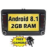 Android 8.1 2 GB RAM Quad Core Autoradio für VW Golf Passat Polo mit Navi Bluetooth Headunit Unterstützung GPS DAB+ WiFi Android Auto AUX USB SD 7