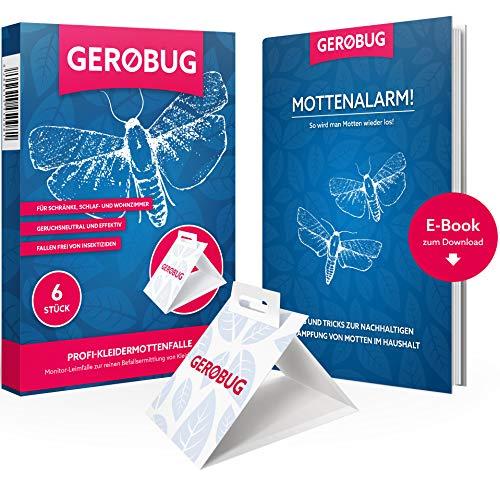 GEROBUG Kleidermottenfalle = 6 Stück + E-Book + Support vom Experten
