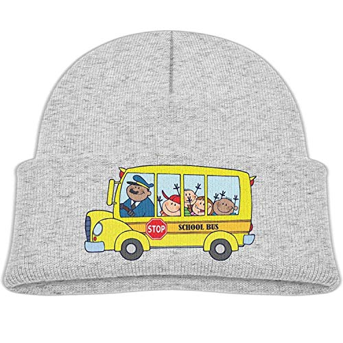 1f3bc24c5ce U-Only Yellow School Bus Winter Knit Hats Baby Warm Beanie Cap Girl