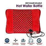 MCP Electric Hot Water Bag Heating Gel Pad Fur Velvet With Hand Pocket