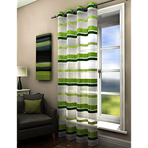 of curtains green striped photo x white grey saving and blackout energy