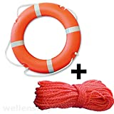 Rettungsring Ø 700 mm + Wurfleine 30 m Ø 8mm Polyethylen