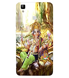 ColourCraft Lord Ganesha Design Back Case Cover for VIVO V3 MAX