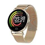 IFMASN Intelligente Uhr für Frauen im Freien, intelligente Sportuhr mit Sauerstoffmonitor, Schlaf- und Spannungsspannung, Kalorienzähler/Schrittzahl, für Android und iOS, Roségold