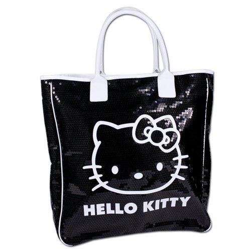 Hello Kitty XL Tasche oder Portemonnaie - Modellauswahl - Geldbörse - Kindertasche (Hello Kitty XL Tasche schwarz)