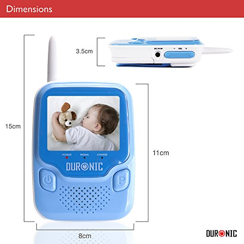Duronic B101B Blue 2.4 GHz 250m Wireless Colour Digital Video & Sound Baby Monitor with Night Vision