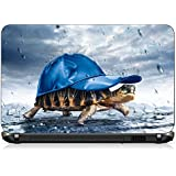 San's Laptop Decals TORTOISE IN CAP Collections [For Asus, Acer, Dell, HP, Toshiba & Others] (Up To 15.6 Inches) ~ Imported 3M PVC With 3 Layer Protection.