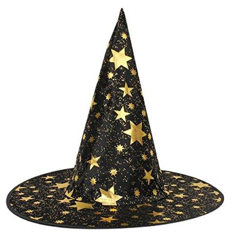 Covermason Für Halloween Kostüm Zubehörteil Erwachsene Damen Herren Hexen Hut Sterne Drucken Cap (Kostüme Für Erwachsene Einzigartige Halloween)