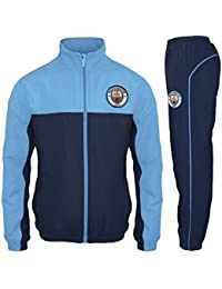 Manchester City FC Official Football Gift Mens Jacket & Pants Tracksuit Set