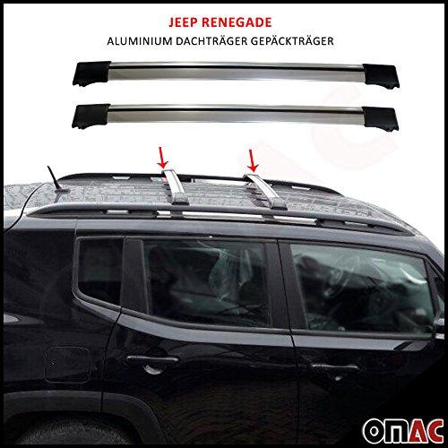 Jeep Renegade ab 2014 Alu Dachträger Gepäckträger Grau Wing Carrier Schlüssel V1