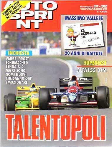 Autosprint Auto Sprint 31 32 del Agosto 1993 Prost Senna Schumacher NO ALLEGATO